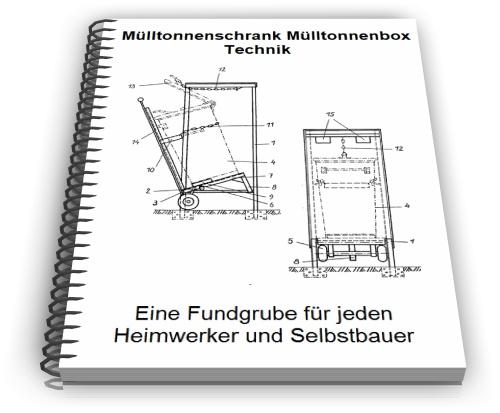 m lltonnenschrank selber bauen m lltonnenbox technik. Black Bedroom Furniture Sets. Home Design Ideas