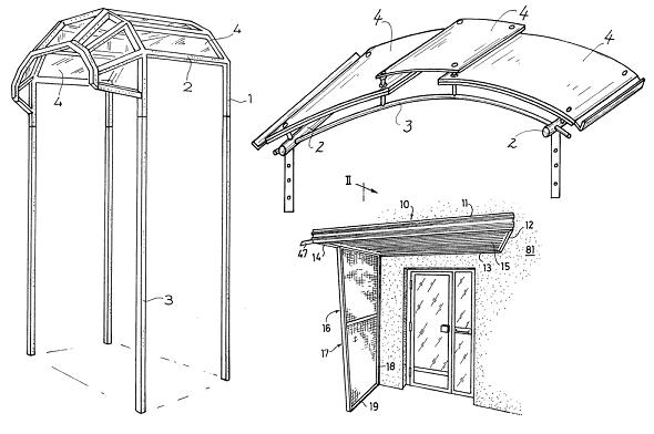 vordach selbst bauen haus geb ude halterung technik patente patentschriften ebay. Black Bedroom Furniture Sets. Home Design Ideas